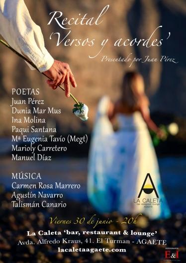 Cartel Recital Versos y Acordes